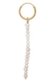 Anna + Nina single-pearl-rain-ring-earring